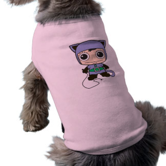 Chibi Cat Woman Dog Tshirt