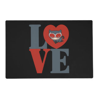 Chibi Catwoman LOVE Placemat