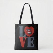 chibi catwoman, heart, love, love stacked logo, love split word, super villain, justice league, batman, dc comics, [[missing key: type_manualww_tot]] with custom graphic design