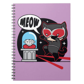 Chibi Catwoman Stealing A Diamond Notebook