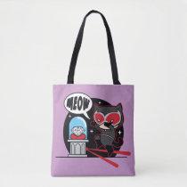 chibi catwoman, meow, cat burglar, diamond, heist, theft, steal, lasers, justice league, batman, dc comics, super villain, [[missing key: type_manualww_tot]] with custom graphic design