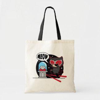 Chibi Catwoman Stealing A Diamond Tote Bag