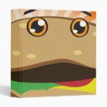 chibi cheeseburger notebook binder