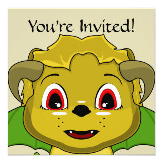 Chibi Chimera 5.25x5.25 Square Paper Invitation Card
