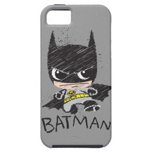 Chibi Classic Batman Sketch iPhone 5 Cover