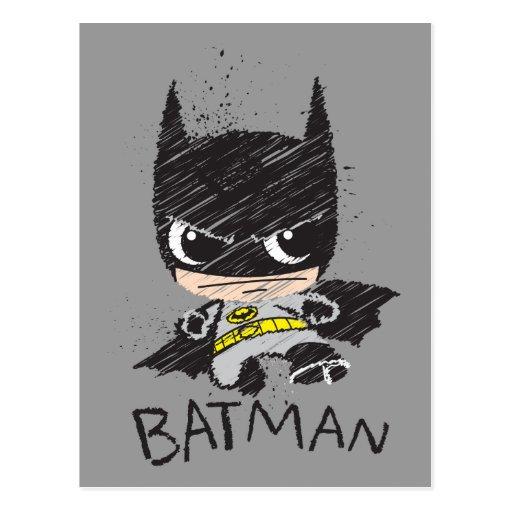 Chibi Classic Batman Sketch Postcard