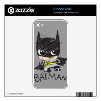 Chibi Classic Batman Sketch Decals For The iPhone 4