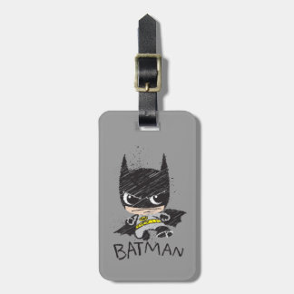 Chibi Classic Batman Sketch Travel Bag Tag