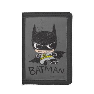 Chibi Classic Batman Sketch Trifold Wallet