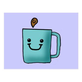 Chibi Coffee Mug Postcard