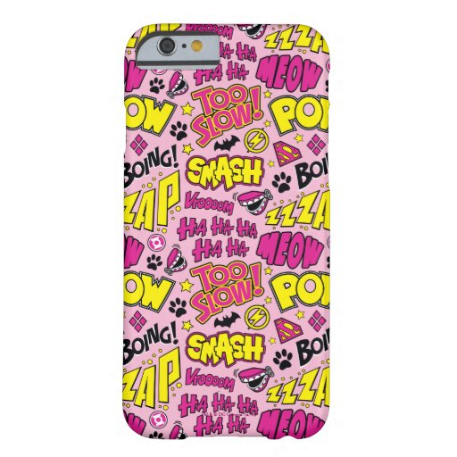 Chibi Comic Phrases and Logos Pattern Barely There iPhone 6 Case