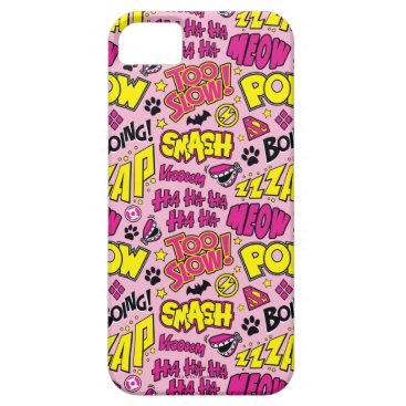 Chibi Comic Phrases and Logos Pattern iPhone SE/5/5s Case