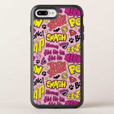 Chibi Comic Phrases and Logos Pattern OtterBox Symmetry iPhone 8 Plus/7 Plus Case