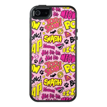 Chibi Comic Phrases and Logos Pattern OtterBox iPhone 5/5s/SE Case