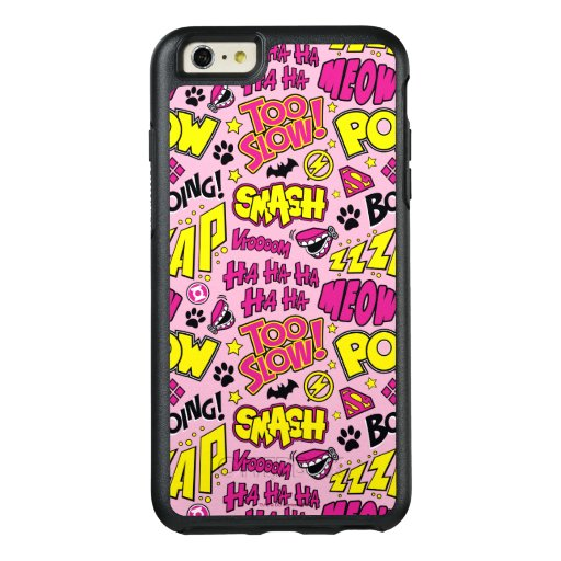 Chibi Comic Phrases and Logos Pattern OtterBox iPhone 6/6s Plus Case