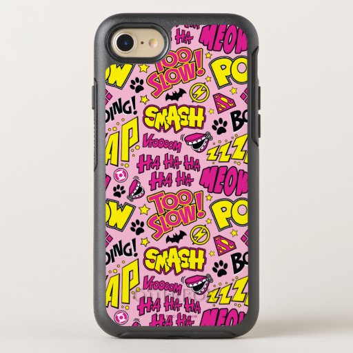 Chibi Comic Phrases and Logos Pattern OtterBox Symmetry iPhone SE/8/7 Case