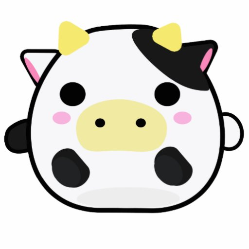 Chibi Cow Photo Cut Outs Zazzle