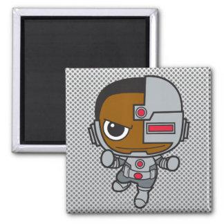 Chibi Cyborg 2 Inch Square Magnet