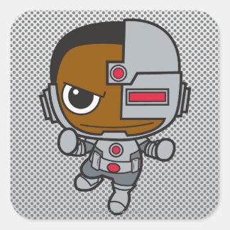 Chibi Cyborg Square Stickers