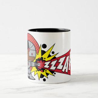 Chibi Cyborg's Cybernetic Cannon Two-Tone Coffee Mug