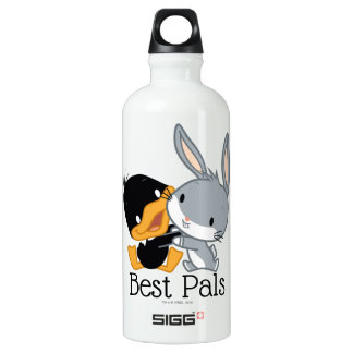 Chibi DAFFY DUCK™ & BUGS BUNNY™ Aluminum Water Bottle