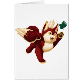 Chibi Dash Greeting Card