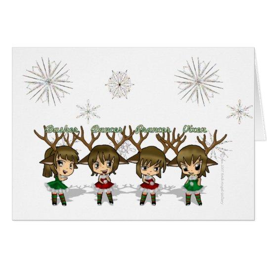 Chibi Deer Card