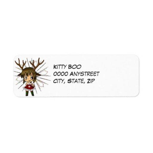 Chibi Deer Label