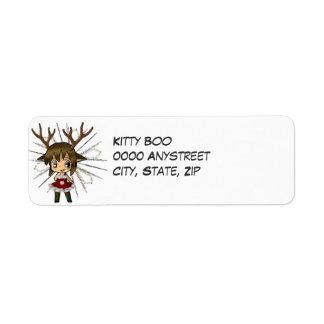 Chibi Deer Return Address Label