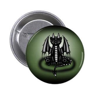 Chibi Dragon black 2 Inch Round Button