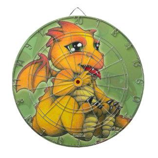 Chibi Dragon Dartboard With Darts