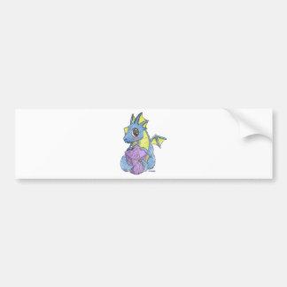 chibi dragon distressed bumper sticker
