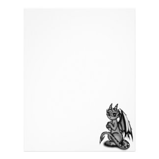 Chibi Dragon grey Letterhead