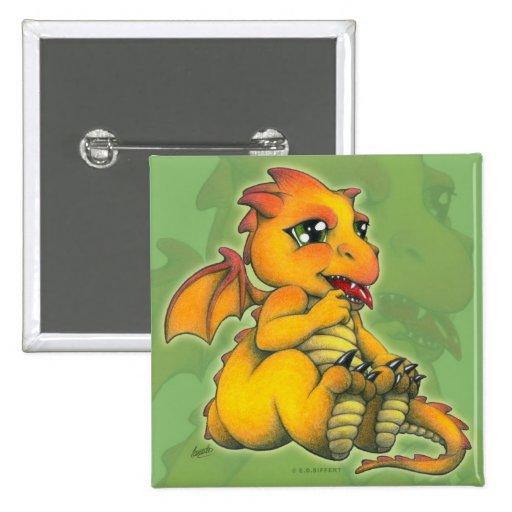 Chibi Dragon Pinback Button