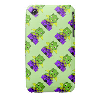 Chibi Dragon With A Yellow And Purple Castle Case-Mate iPhone 3 Case