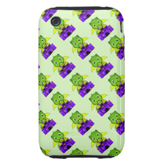 Chibi Dragon With A Yellow And Purple Castle iPhone 3 Tough Case
