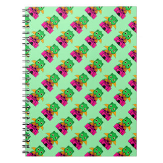 Chibi Dragon With An Orange And Pink Castle Spiral Notebooks