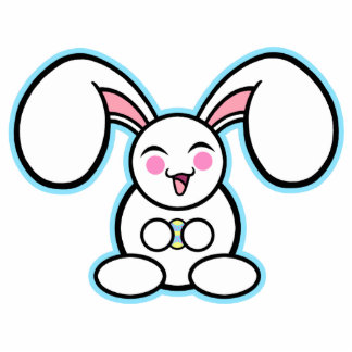 Chibi Easter Bunny Photo Cut Outs