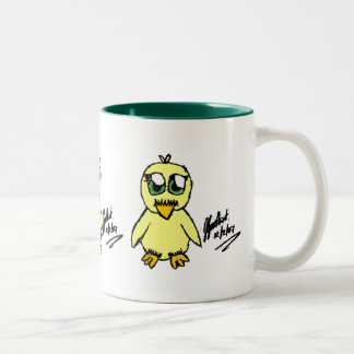 Chibi Easter CHICK, Chibi Easter CHICK, Chibi E... Two-Tone Coffee Mug