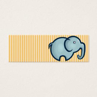 Chibi Elephant Bookmark Mini Business Card