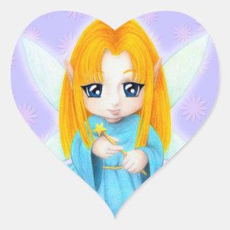 Chibi Faery Heart Sticker