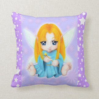 Chibi Faery Throw Pillow
