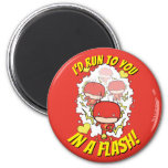 Chibi Flash - I'd Run To You In A Flash Valentine Magnet