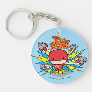 Chibi Flash Outrunning Rockets Keychain