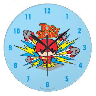 Chibi Flash Outrunning Rockets Large Clock