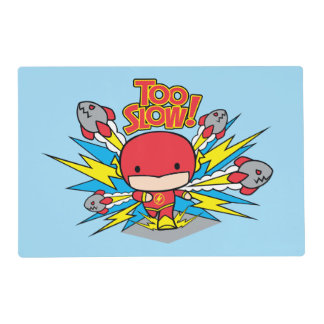 Chibi Flash Outrunning Rockets Placemat