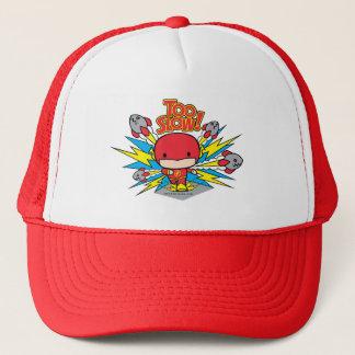 Chibi Flash Outrunning Rockets Trucker Hat