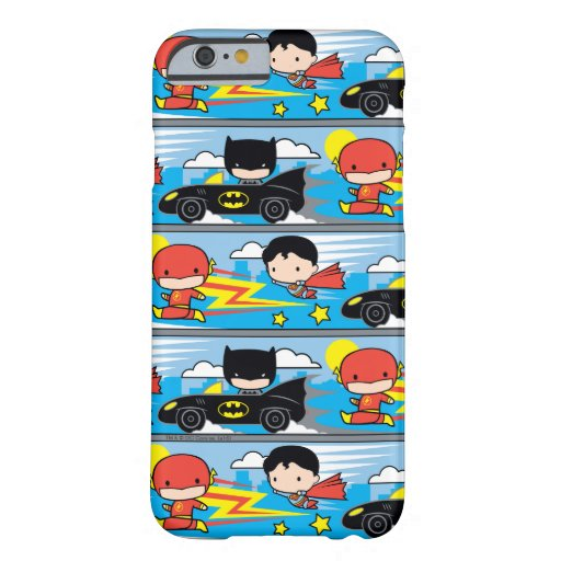 Chibi Flash, Superman, and Batman Racing Pattern Barely There iPhone 6 Case