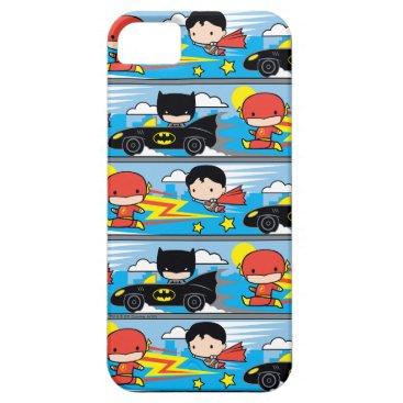 Chibi Flash, Superman, and Batman Racing Pattern iPhone SE/5/5s Case
