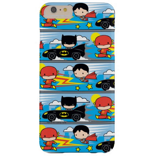 Chibi Flash, Superman, and Batman Racing Pattern Barely There iPhone 6 Plus Case